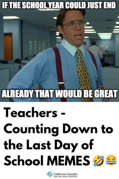 The end of the school year is in sight! Here's how educators are feeling right around this time of year. Casualty Insurance, Teacher Funnies, Last Day Of School, School Memes, Free Quotes, Higher Education, Counting, Teaching, Feelings