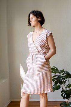 Crossover Linen Dress Tutorial
