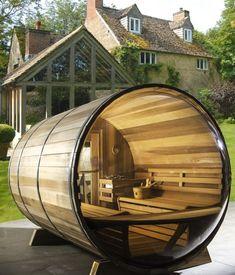 Panoramic View Barrel Sauna - Diameter - Log Furniture and More sauna house