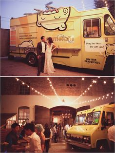 food truck wedding...pretty much love everything about this wedding.