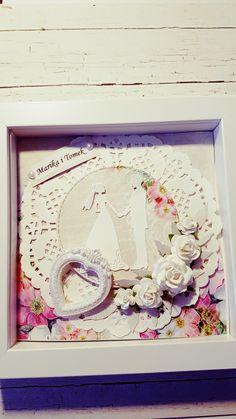 Ramka na slub. Kartka zachowana w ramce . Pomysł na ślub.