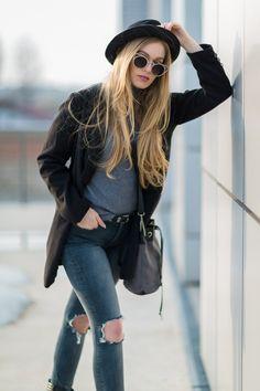 Marcherry: Women's Indie Fashion Round Laser Cut Metal Cat Eye Sunglasses 9788
