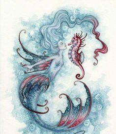 Deniz kızı ve deniz atının aşkı