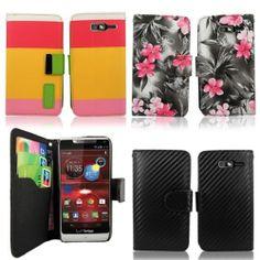 Motorola Droid Razr M Xt907 4g LTE Verizon Pu Leather Wallet Card Flip Open Case- maybe