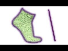 Wooly tricks sock tunisian crochet pattern - YouTube