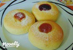Pihe-puha fánk sütőben sütve | Nosalty Hungarian Cake, Hungarian Recipes, Hungarian Food, Doughnut, Donuts, Food To Make, Delish, Deserts, Food And Drink