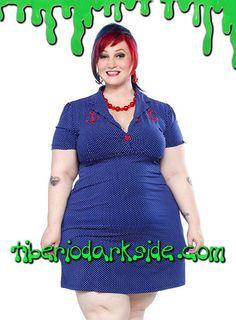Tiberio Dark Side, - Vestido Rosie Anchor