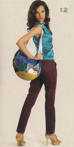 bolsa tecido pitada  com inspiração de um quadro de  Tarsila do Amaral