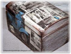 pudełko decopuage, caja decoupage, box