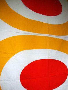 Vintage 60s Marimekko Fabric 1963 Melooni Silk by CuteBrightFun, $250.00