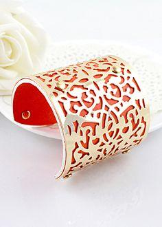 bracelet manchette creus rouge eur458