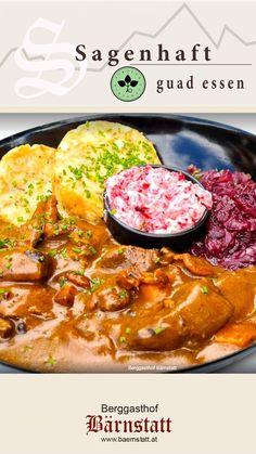 Lassen Sie sich nach diesem Motto vom Junior Chef des Hauses mit traditionellen Schmankerl und internationaler Küche im Restaurant Bärnstatt am Fuße des Wilden Kaisers verwöhnen. #bärenstark🐻 #echtbärig🐻 #inechtnochschöner⛰ #restaurantbärnstatt👀 #wilderkaisergenuss😊 Cocktail Dressing, Wilder Kaiser, Restaurant, Motto, Curry, Ethnic Recipes, Inspiration, Food, Leafy Salad