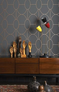 Tapeta Art Deco Riviera Cole and Son Geometryczna Tapeta nowoczesna Cole and Son geometryczna Tapeta Salon Art Deco, Arte Art Deco, Wallpaper Art Deco, Designer Wallpaper, Modern Wallpaper, Geometric Wallpaper, Dark Grey Wallpaper, Bronze Wallpaper, Wallpaper Uk