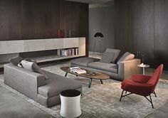 Contemporary sofa by Rodolfo Dordoni - POWELL - Minotti