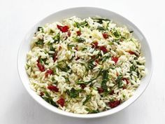 Get Peppery Parmesan Orzo Recipe from Food Network