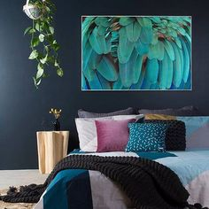 Reno Rumble, Framed Artwork, Wall Art, Bedroom Art, Bedroom Inspo, Bedroom Ideas, Blue Bedroom, Bedroom Inspiration, Free Frames