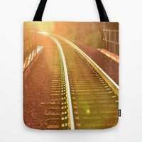 Tote Bag featuring WHERE ARE WE GOING? by Teresa Chipperfield Studios