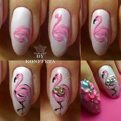 Фотография nails in 2019 animal nail art, nail art designs, flamingo nails. Nail Art Diy, Diy Nails, Flamingo Nails, Animal Nail Art, Rose Nails, Cute Acrylic Nails, Nail Decorations, Nail Tutorials, Perfect Nails