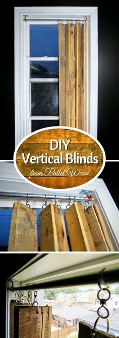 Check out how to make DIY vertical window blinds from pallet wood @Industry Standard Design