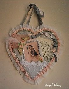 vintage valentine banner...or i could do all of the above and add collage, cupids AND vintage valentines in one