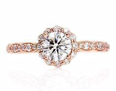 Engagement Ring Diamond Ring Halo Diamond Engagement by JPoliseno, $4000.00
