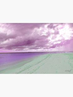 """Violet stormy days on a sandy beach "" Metal Print by Artlajf   Redbubble Nature Photos, Photo Art, Canvas Prints, Wall Art, Day, Metal, Beach, Creative, Artist"