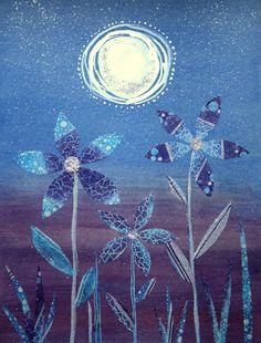 """""""Moonflowers"""" by Shanti I.Kassebom"""