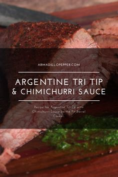 Argentine Trip Tip with Chimichurri Sauce