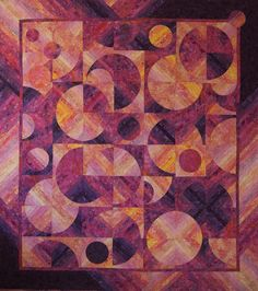 Barbara Persing--a Stratavarious quilt. I like the interplay of colors here in the complementary color scheme, as well as the luminosity.