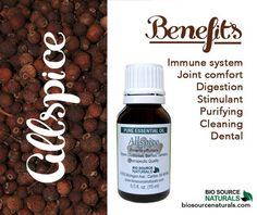 Allspice Essential Oil is a must have for immune support!  #aromatherapy