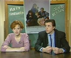 Molly Ringwald and Judd Nelson, it's a pic of a interview that they talked about TBC. I have the video of this interview in this album