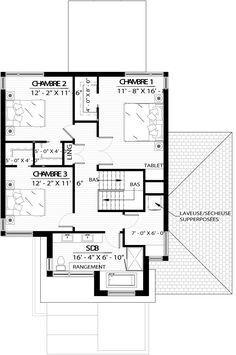 Maison à vendre House Plans, Sweet Home, Floor Plans, How To Plan, Houses, Projects, Plane, Traveling, Design
