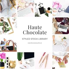 Styled stock photos for female entrepreneurs! Gorgeous photos to use on your blog, website, social media, and marketing materials. Looking for affordable stock photos? Look no further than Haute Chocolate. {affiliate link}