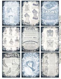 Ephemera's Vintage Garden: Freebie: Vintage Ladies Fashions ATC/ACEO Backgrounds