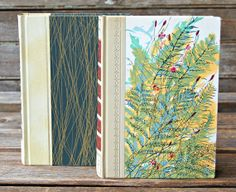 Pair of Readers Digest Condensed Books Green Floral