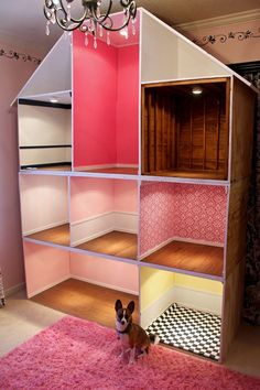 Pin by Heather Dalton on American Girl American Doll House, American Girl Doll Room, American Girl Crafts, American Girl Storage, Doll House Plans, Doll House Crafts, Barbie Doll House, Doll Crafts, Doll Houses