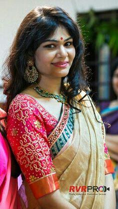 Latest Silk Saree Blouse Designs for Wedding - ArtsyCraftsyDad Silk Saree Blouse Designs, Blouse Patterns, Latest Silk Sarees, Maggam Work Designs, Blouse Models, Beautiful Blouses, Fancy, Indian Designer Wear, Work Blouse