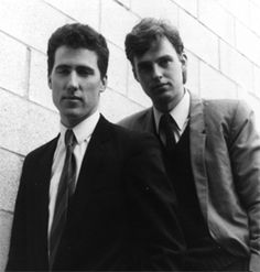 Orchestral Manoeuvres In The Dark (OMD), Andy McCluskey and Paul Humphreys.