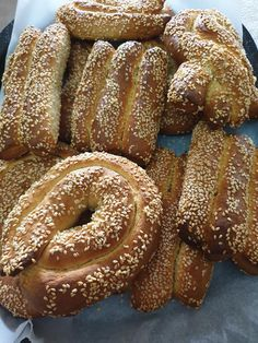 Braided Bread, Greek Recipes, Doughnut, Breads, Food And Drink, Favorite Recipes, Dishes, Cookies, Desserts