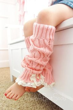 Lil Girl Pink Boot Sock. $18.00, via Etsy.