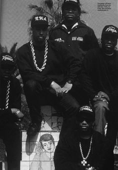 N.W.A. back in the day. - Why do I have a rap group on this board? Because, to me, it's all one continuous line. from the music slaves brought from Africa to North America, through jazz and blues to R to Hip Hop. You can hear it!