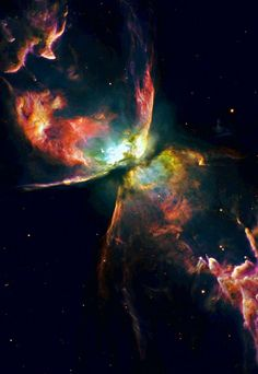 The Butterfly nebula,  NGC 6302, lies about 4,000 light-years away in the constellation | http://exploringuniversecollections.blogspot.com