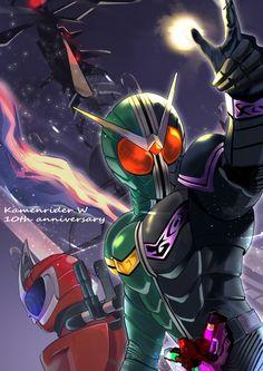 Kamen Rider W, Kamen Rider Series, Godzilla, Cyber, Hero, Anime, Wallpapers, Cartoon Movies, Wallpaper