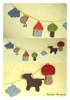 ༺༺༺♥Elles♥Heart♥Loves♥༺༺༺ ...........♥Crochet Bunting♥........... #Crochet…