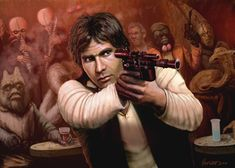 Han Solo Adventures - Gunfight by HalHefnerART.deviantart.com