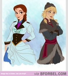Frozen~Elsa ✤If Kristoff and Hans Were Women…