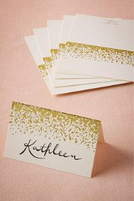 Gilded Letterpress Place Cards (10) #WishBigWinBigContest #wedding #registry