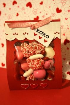 ** Chic Tags- delightful paper tag **: Valentine Goodie Pouch