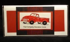 Red Pickup truck Vehicle Document wallet