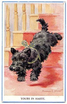 1950's scottish terrier holiday card - Google Search